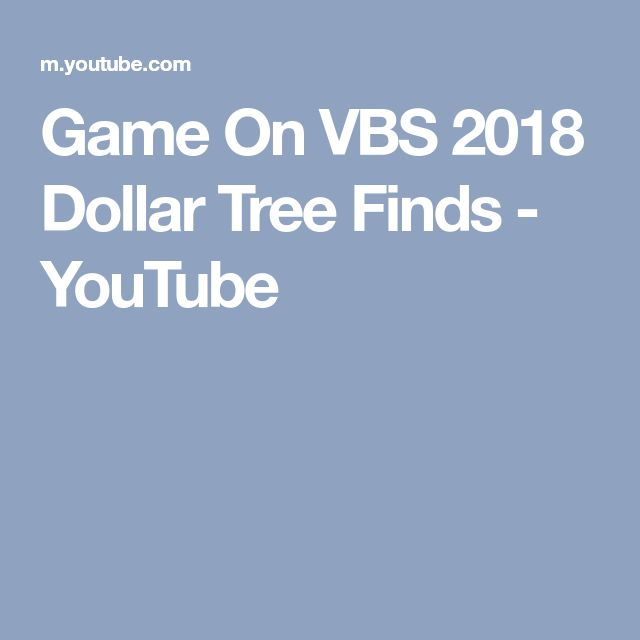 Game On VBS 2018 Dollar Tree Finds - YouTube