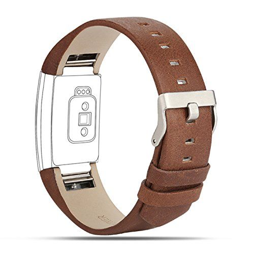 From 11.99 For Fitbit Charge 2 Strap Leather Band Adjustable Replacement Sport Straps For Fitbit Charge 2 Fitness Wristband-coffee Brown