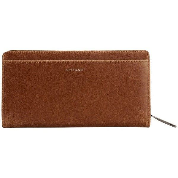 Matt Nat Webber Wallet Chili by Matt and Nat ($25) ❤ liked on Polyvore featuring bags, wallets, brown wallet, matt nat wallet, brown bag and matt nat bag