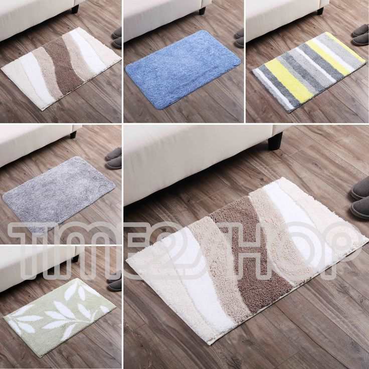 Comfy Microfiber Living Floor Mat Square Kitchen Room Carpet Dining Rug 50x80cm #Unbranded