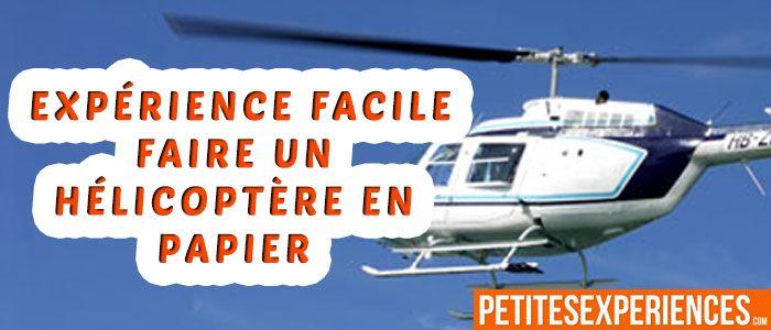 faire une hélicoptère en papier
