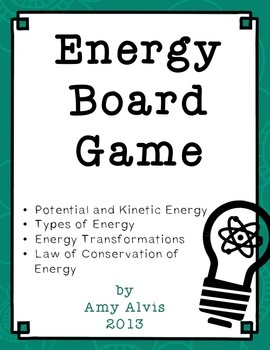 This is a companion piece to my popular Energy Posters.    Topics covered:    potential energy, kinetic energy, gravitational potential energy, chemical potential energy, elastic potential energy, chemical energy, nuclear energy, electrical energy, light energy, sound energy, mechanical energy, thermal energy, energy transformations