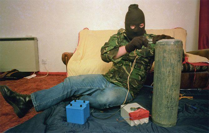 IRA bomb maker. Belfast, 1985. By Harry Benson