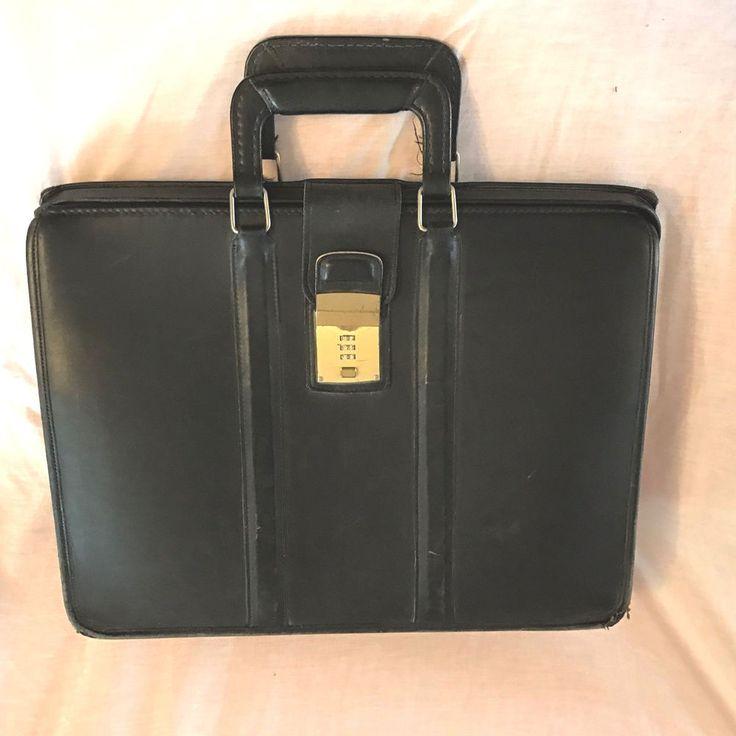 Rare Coach Leather Gladstone Combination Lock Attache Briefcase Doctor Bag   #Coach #Briefcase
