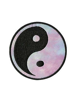 Pastel Tie Dye Yin-Yang Patch,