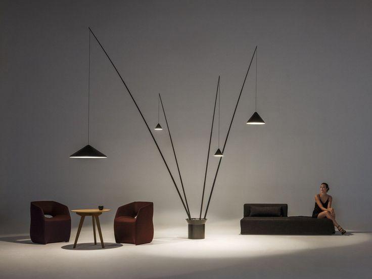 LED carbon fibre floor lamp NORTH | Floor lamp - Vibia