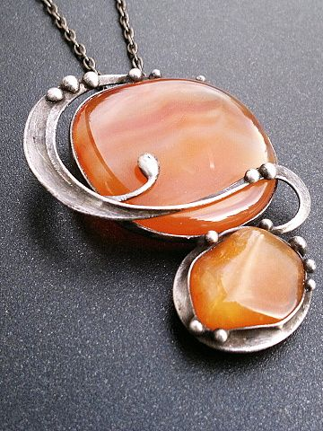 Etno textil - Originální dárky - Bižuterie  nouveau tiffany jewelry pendant setting Miroslava Bulířová.