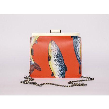 Le sac a main imprime poissons Tammy Benjamin