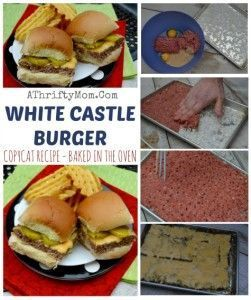 WHITE CASTLE BURGER COPYCAT RECIPE, BAKED IN THE OVEN SO EASY, White Castle sliders recipe