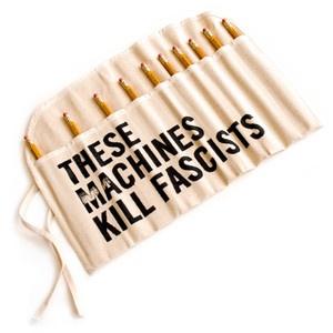 These Machines Kill Fascists now featured on Fab.Kill Fascist, Fab Com, Fun Stuff, Graphics Design, Fabcom, Pencil Cases, Machine Kill, Products, Fascist Pencil