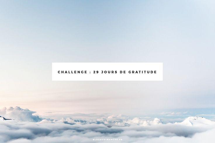 Challenge : 29 jours de gratitude