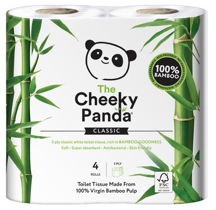 The Cheeky Panda FSC Bamboo Toilet Tissue - 4 Rolls | Ethical Superstore £2.49