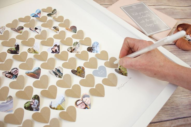 Wedding guestbook alternative, heart guestbook, photo guest book frame, 3D guestbook, wedding guest book ideas, custom guest book sign in, by CeladonHome on Etsy https://www.etsy.com/listing/480453162/wedding-guestbook-alternative-heart