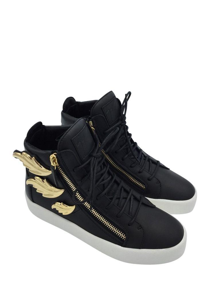 "GIUSEPPE ZANOTTI High Top Sneaker With ""cruel"" Golden Metal SIze 7 Retail"