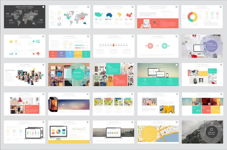 Monica Presentation Template by Ryanda on Creative Market