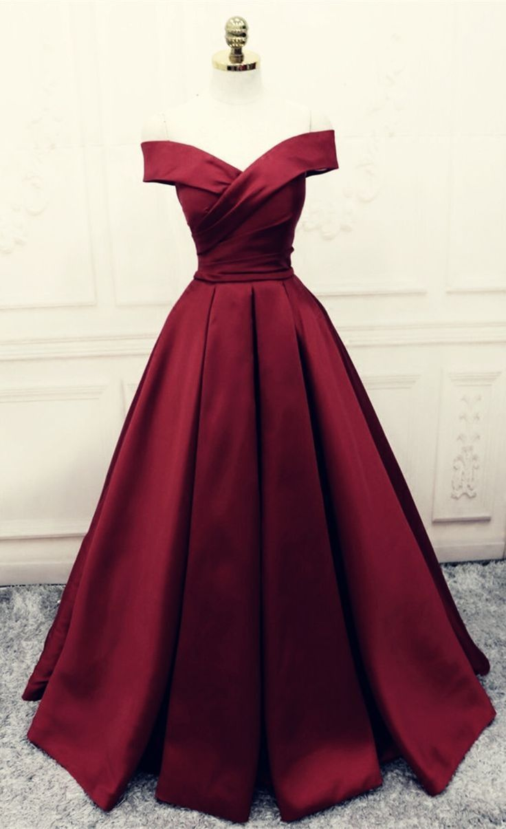 Possessivo Imagine Tae In 2020 Burgundy Prom Dress Satin Evening Gown Ball Dresses