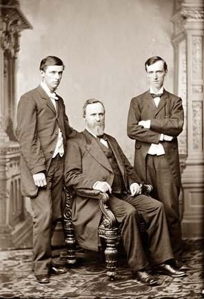 Hayes, President Rutherford B. and two sons. I'm related to them on my mothers side. Cool
