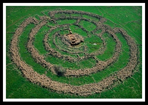 A Mysterious Cross Between Stonehenge and a Crop Circle.... On a wide plateau in the Golan Heights region lies the ancient, mysterious rock structure called the  Gilgal Refaim. Although it is millennia old, very little is actually known about the Gilgal Refaim or those who built it.