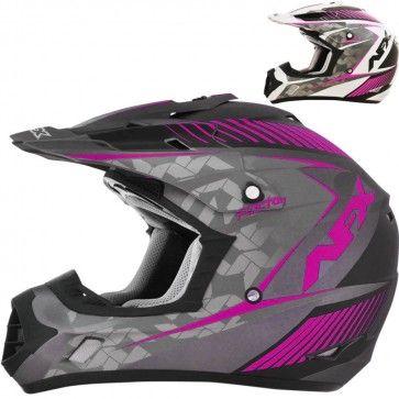 AFX FX-17 Factor Womens MX ATV Dirt Bike Off Road Motocross Helmets