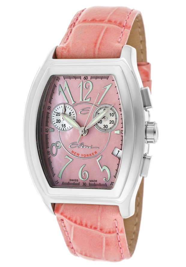 Price:$119.99 #watches Elini PK12325APK, The Elini brand create a modern and urban look in premiun grade stainless steel case and a fashionable leather strap, this Elini chronograph timepiece is a vogue addition to your wardrobe.