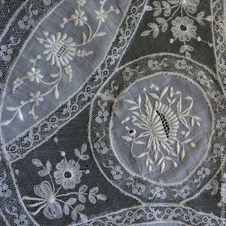 Купить Декоративная салфетка нормандского кружева - белый, дорожка, дорожка на стол, дорожка кружевная, кружево
