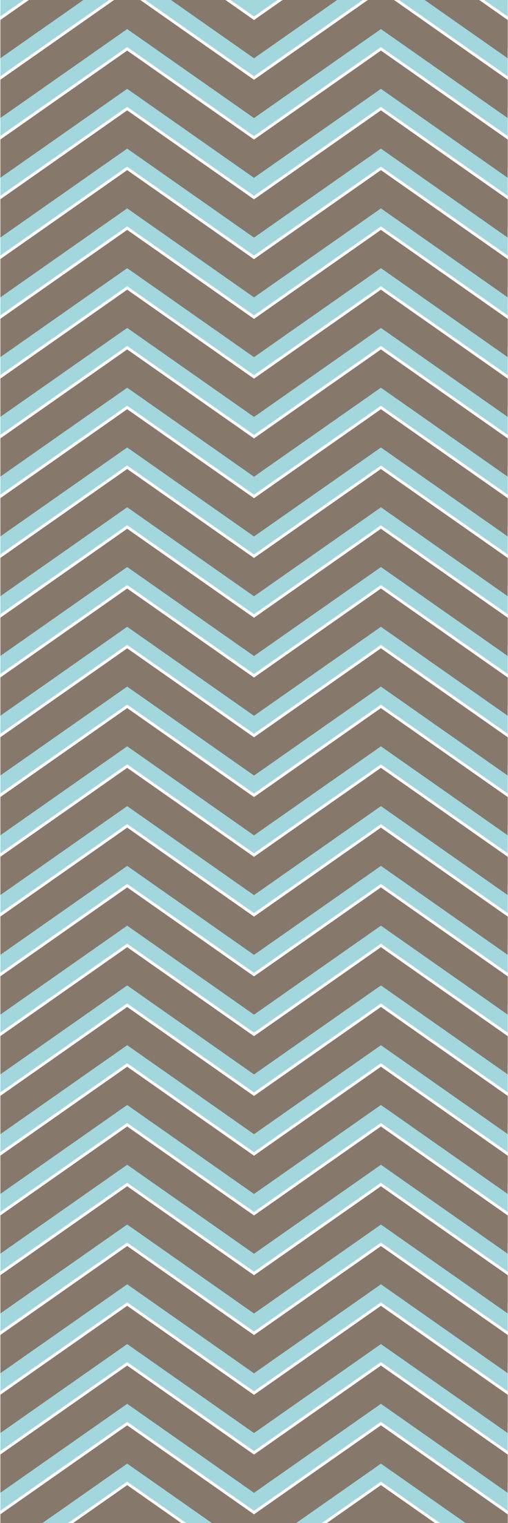 Custom printed Chevron wallpaper from the 'EMU' colour range #chevron #wallpaper #muurgraphics