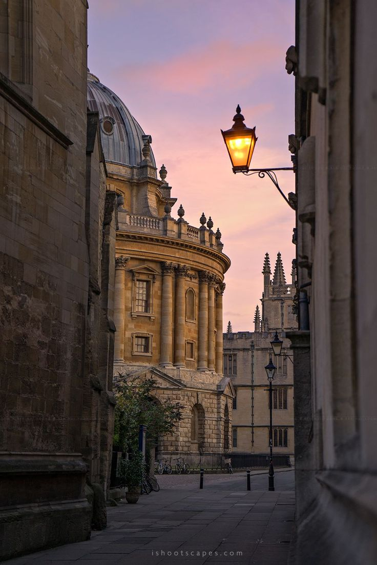 Early morning Oxford - England
