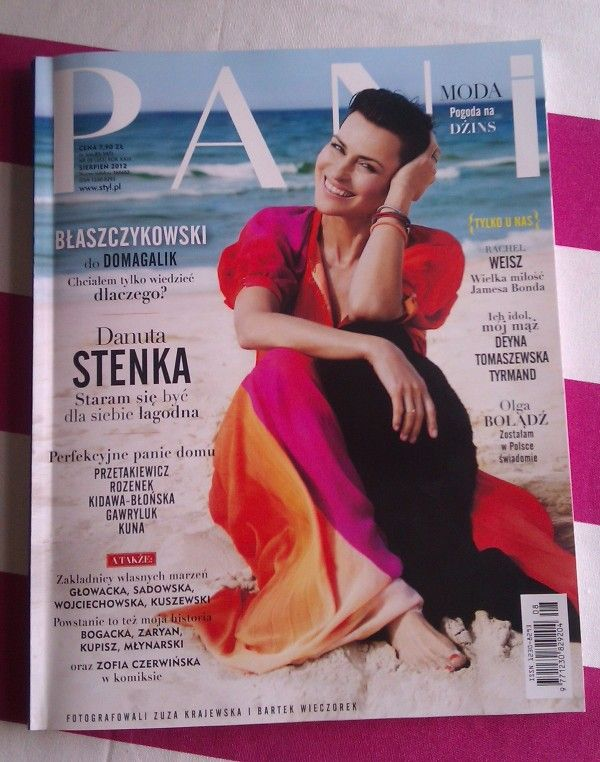 Danuta Stenka, 51 year-old actress, on the cover of PANI magazine