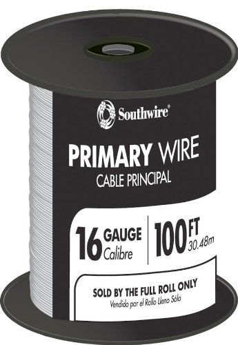 Southwire 55667923 100' 16 Gauge 19 Strand Primary Auto Wire, White by Southwire. $16.66. Southwire 55667923 100' 16 Gauge 19 Strand Primary Auto Wire, White Southwire 55667923 100' 16 Gauge 19 Strand Primary Auto Wire, White Features: Primary auto wire Suitable for use as low voltage primary wire intended for use at nominal system voltages of 60 watts Ideal for nominal applications with limited exposure to fluids and physical abuse experienced during the operation of cars, b...