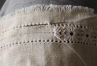 pulled thread edge tutorial