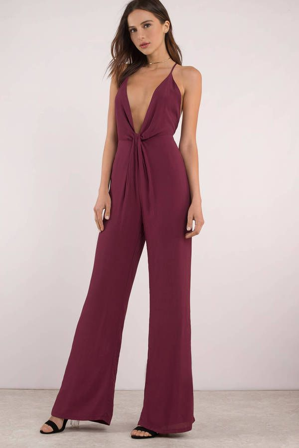 ad363efa95df Annabelle Black Knot Front Jumpsuit Formal Jumpsuit