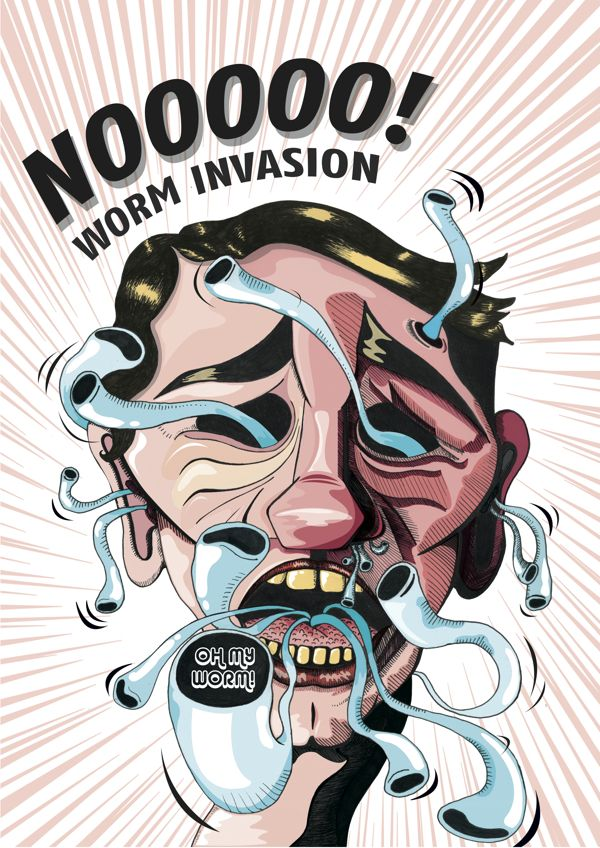 Worm Invasion by Ronel Swanepoel, via Behance