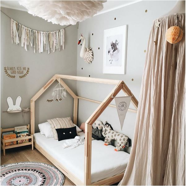 love the soft touches in this toddler room - Multi Canopy Decor