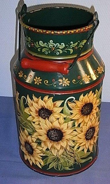 Sunflower Milk Can Art