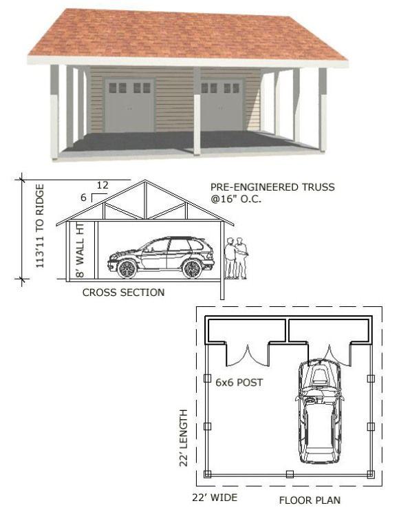 17 best carport ideas on pinterest carport covers for Cheap garage plans