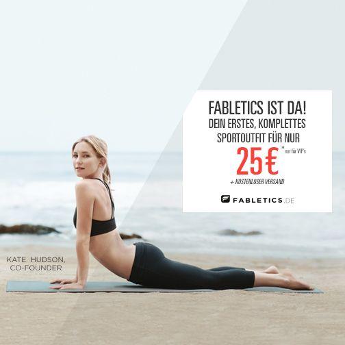 Fabletics ist Online! Bestelle jetzt Dein erstes, komplettes Sportoutfit für nur 25€ mit kostenlosem Versand auf www.fabletics.de