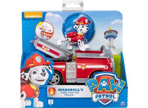 PAW PATROL basiskjøretøy med valp Marshall i brannbil