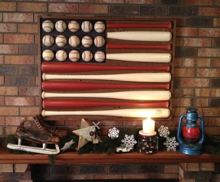 Baseball Flag for the man cave. He doesn't know it but this is totally going in the man cave