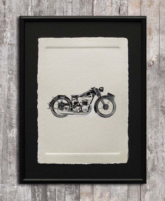 Motorcycle Print wall art vehicle print poster antique