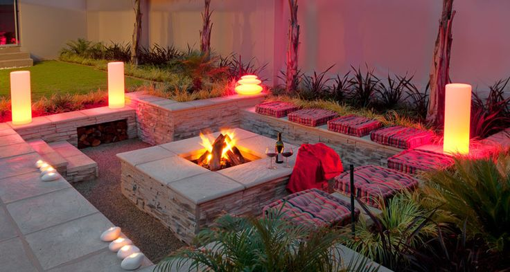 boma idea: firepit with lighting
