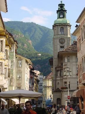 Bolzano, Italy...a small city in what used to be Austria.  Not surprisingly, German is widely spoken there.