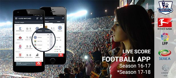 Football App to stay up to date with all the latest football news, live scores, results. #footballapp #livescore #android #webdevelopment #IOStemplates #shopnow