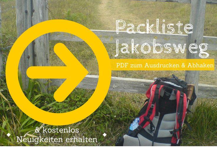 Pilgern: Packliste für den Jakobsweg-PDF | Jakobsweg-Küstenweg
