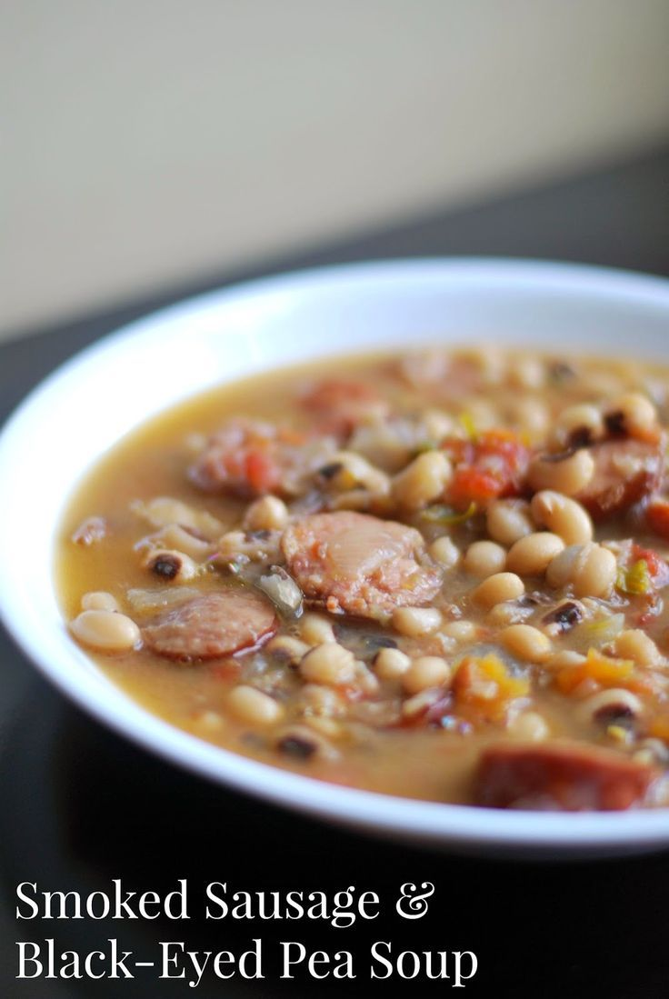Smoked Sausage & Black-Eyed Pea Soup | Aunt Bee's Recipes |  This is my favorite soup in the WORLD!