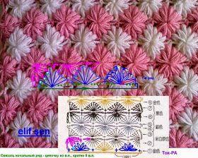 Paso a paso punto al crochet con fotos varios colores