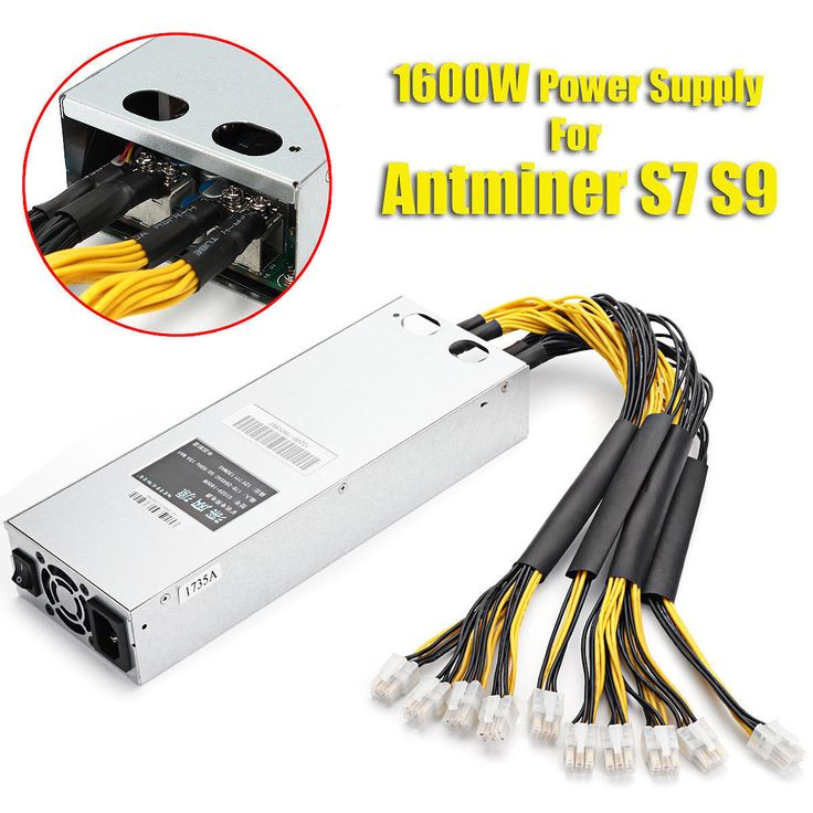 Item Specifics Brand Unbranded 92 1600w Mining Power Supply For Bitcoin Miner S9 S7