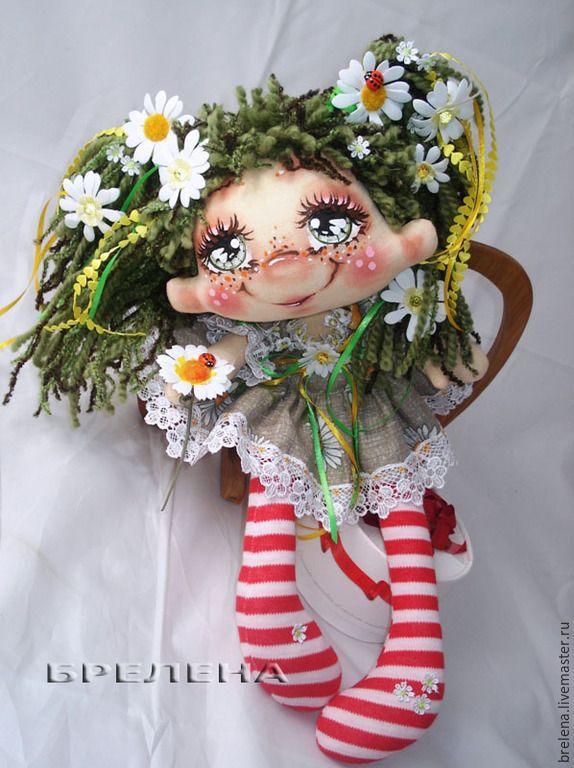 Купить Текстильная кукла Ромашковая фея - Сюрприз! - разноцветный, интерьерная кукла, текстильная кукла