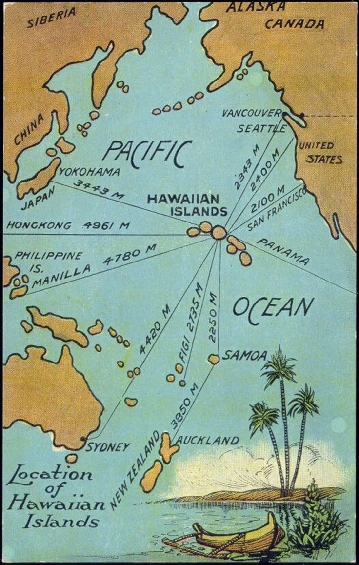 Hawaii on the map