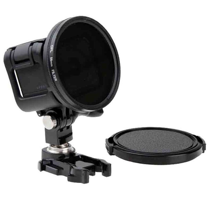 58mm Circular Polarizing CPL Filter Cap Lens for Canon Nikon Sony Olympus Gopro Hero 3 Action Camera
