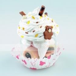 barattolo cupcake - idea regalo san valentino - orsetto innamorato